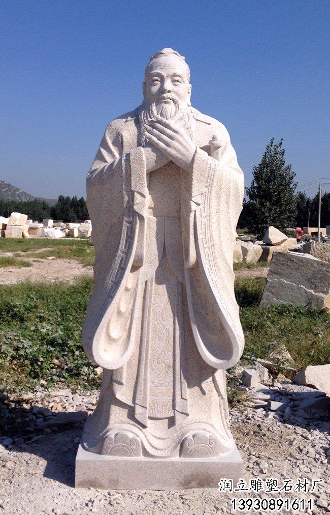 曲阳石雕孔子雕像-曲阳石雕网